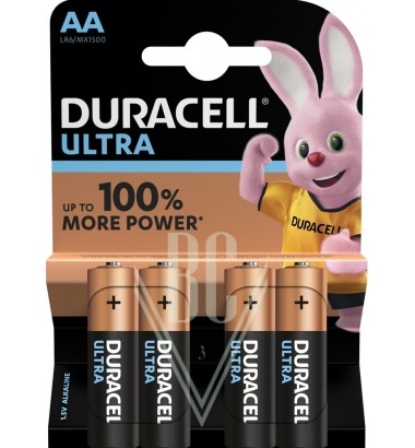 Duracell Ultra Power Battery AA Mignon LR6 MX1500, 4 Pack
