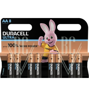Duracell Ultra Power Battery AA Mignon LR6 MX1500, 8 Pack