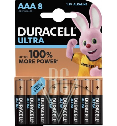 Duracell Ultra Power Battery AAA Micro LR03 MX2400, 8 Pack