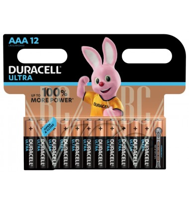 Duracell Ultra Power Battery AAA Micro LR03 MX2400, 12 Pack
