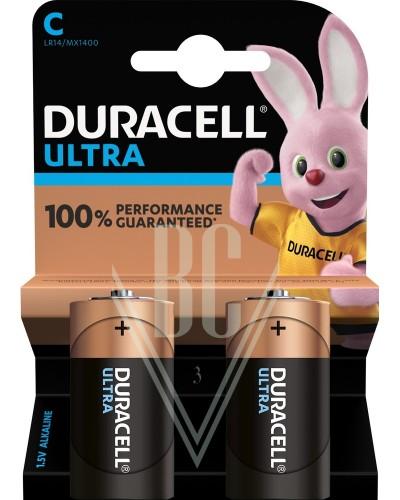 Duracell Ultra Power Battery C Baby LR14 MX1400, 2 Pack