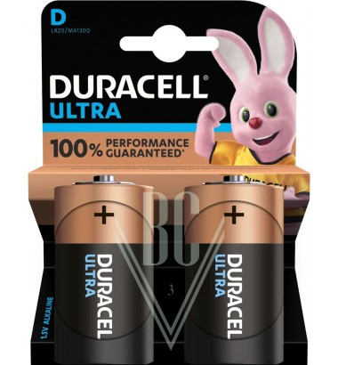 Duracell Ultra Power Battery D Mono LR20 MX1300, 2 Pack