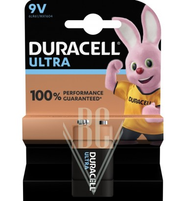 Duracell Ultra Power Battery 9V E-Block 6LR61 MX1604, 1 Pack