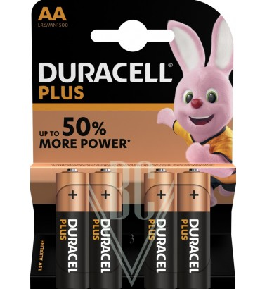Duracell Plus Power Battery AA Mignon LR6 MN1500, 4 Pack
