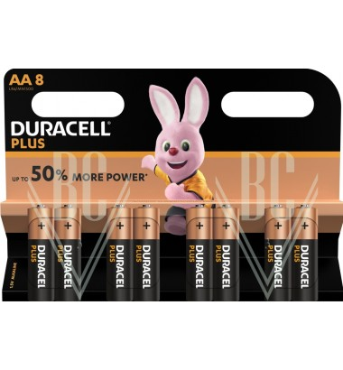 Duracell Plus Power Battery AA Mignon LR6 MN1500, 8 Pack