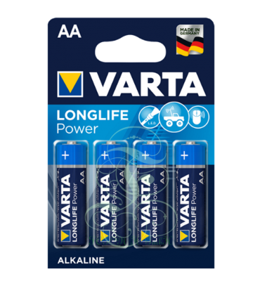Varta Longlife Power Battery AA Mignon LR6 4906, 4 Pack