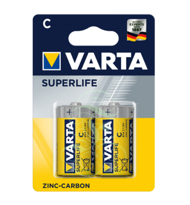 Varta Superlife Battery C Baby R14 2014, 2 Pack