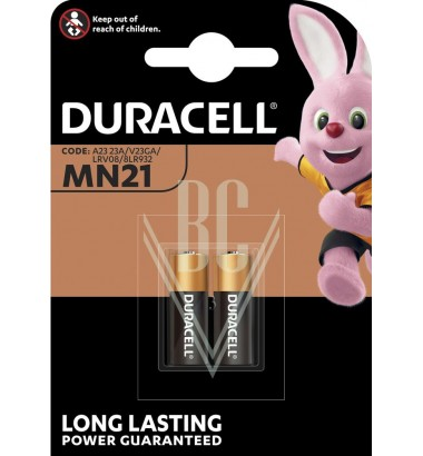 Duracell Battery MN21 LR23 23A 3LR50 12V, 2 Pack