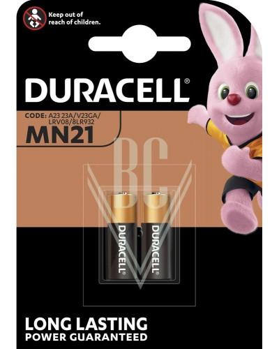 Duracell Battery MN21 LR23 23A 3LR50 12V, 2 Pack