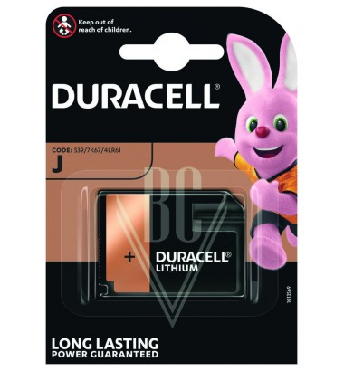 Duracell Battery J Flatpack 4LR61 7K67 6V, 1 Pack