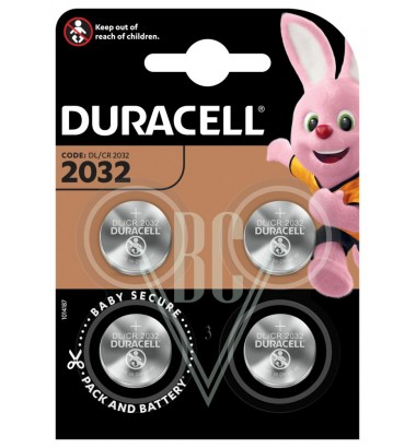 Duracell Coincell Battery 2032 CR2032 3V, 4 Pack