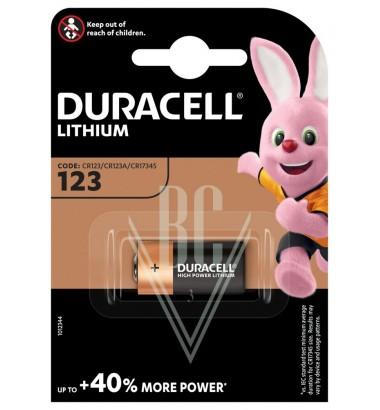 Duracell Camera Battery CR123 CR17345 3V, 1 Pack