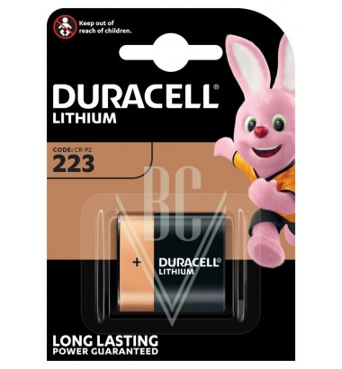 Duracell Camera Battery 223 CRP2 6V, 1 Pack
