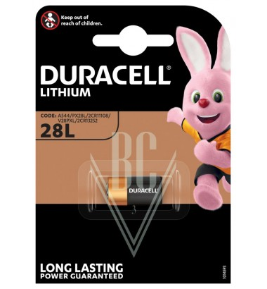 Duracell Camera Battery 28L 2CR1/3N 6V, 1 Pack