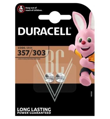 Duracell Watch Battery 357/303 SR44 SR1154 SG13 LR44, 2 Pack