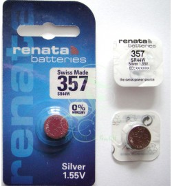 Renata Watch Battery 357 SR44W SR1154W SG13 LR44, 1 Pack