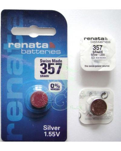 Renata Watch Battery 357 SR44W SR1154W SG13 LR44, 1 Pack