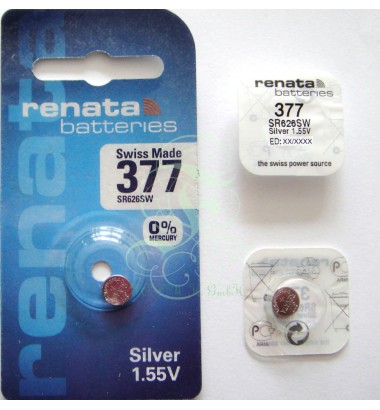 Renata Watch Battery 377 SR66SW SR626SW SG4 LR66, 1 Pack