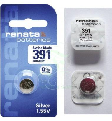 Renata Watch Battery 391 SR55W SR1120W SG8 LR55, 1 Pack