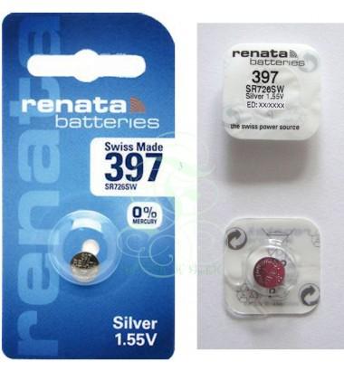 Renata Watch Battery 397 SR59SW SR726SW SG2 LR59, 1 Pack