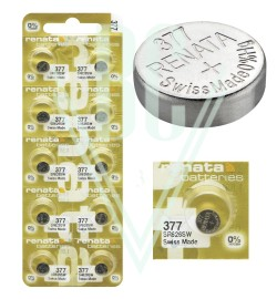 Renata Watch Battery MP-E 377 SR66SW SR626SW SG4 LR66, 1 Pack