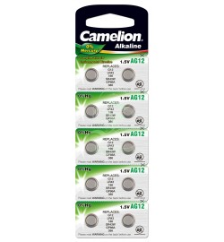 Camelion Buttoncell Battery AG12 LR43 LR1142 301 386, 10 Pack