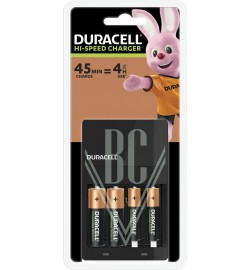 Duracell Charger CEF14 4-hrs, incl. 2xAA & 2xAAA Rechargeable Batteries