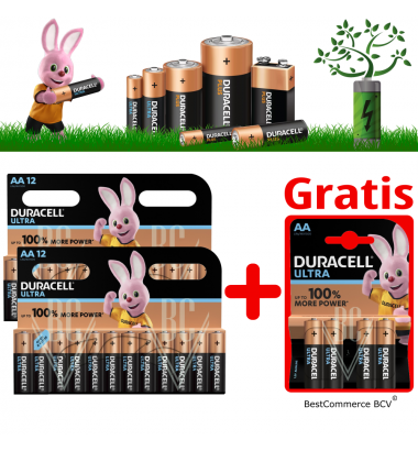 PROMOTION 2 x 12 Pack Duracell Ultra Power AA + FREE 4 Pack Ultra Power AA