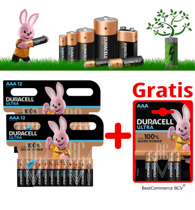 PROMOTION 2 x 12 Pack Duracell Ultra Power AAA + FREE 4 Pack Ultra Power AAA