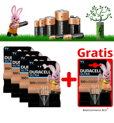 PROMOTION 4 x 1 Pack Duracell Ultra Power 9V + FREE 1 Pack Ultra Power 9V
