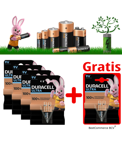 PROMOTION 4 x 1 Pack Duracell Ultra Power 9V + FREE 1 Pack Ultra Power 9V